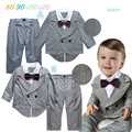 Newborn Infant Toddler Long Sleeve False Two Suits + Casual Pants Birthday Party Clothing Set Wedding Suit Baby Boy Clothes