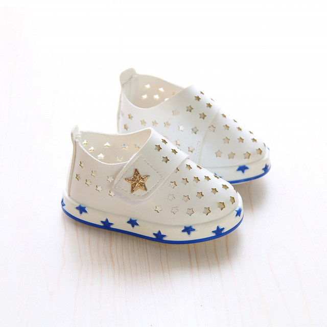 2016 New arrival Summer Baby Shoes For Boys Girls Hollow Out Star casual breathable First Walkers Prewalker FW-015