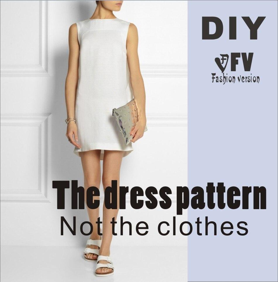 Ropa DIY El vestido Vestidos de Patrón de Costura de corte dibujo ...