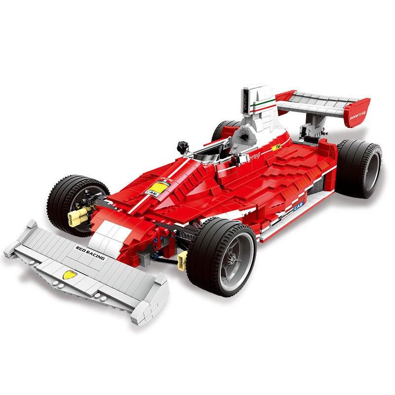 03023 Genuine The Red Power Racing Car Set Self-Locking Building Blocks Bricks Model Toy Christmas Gift for Kids