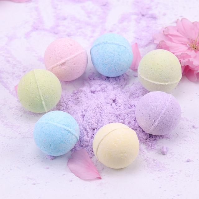 1PC Organic Bath Salt Body Essential Oil Bath Ball Body Skin Whitening Ease Relax Stress Relief Natural Bubble Bath Bombs Ball 4