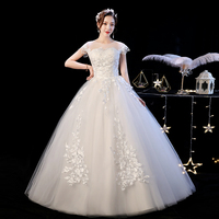 Retro Wedding Dress Lace Up New Bride Dress Luxury Ball Gowns Wedding Dresses Embroidery Princess Dresses