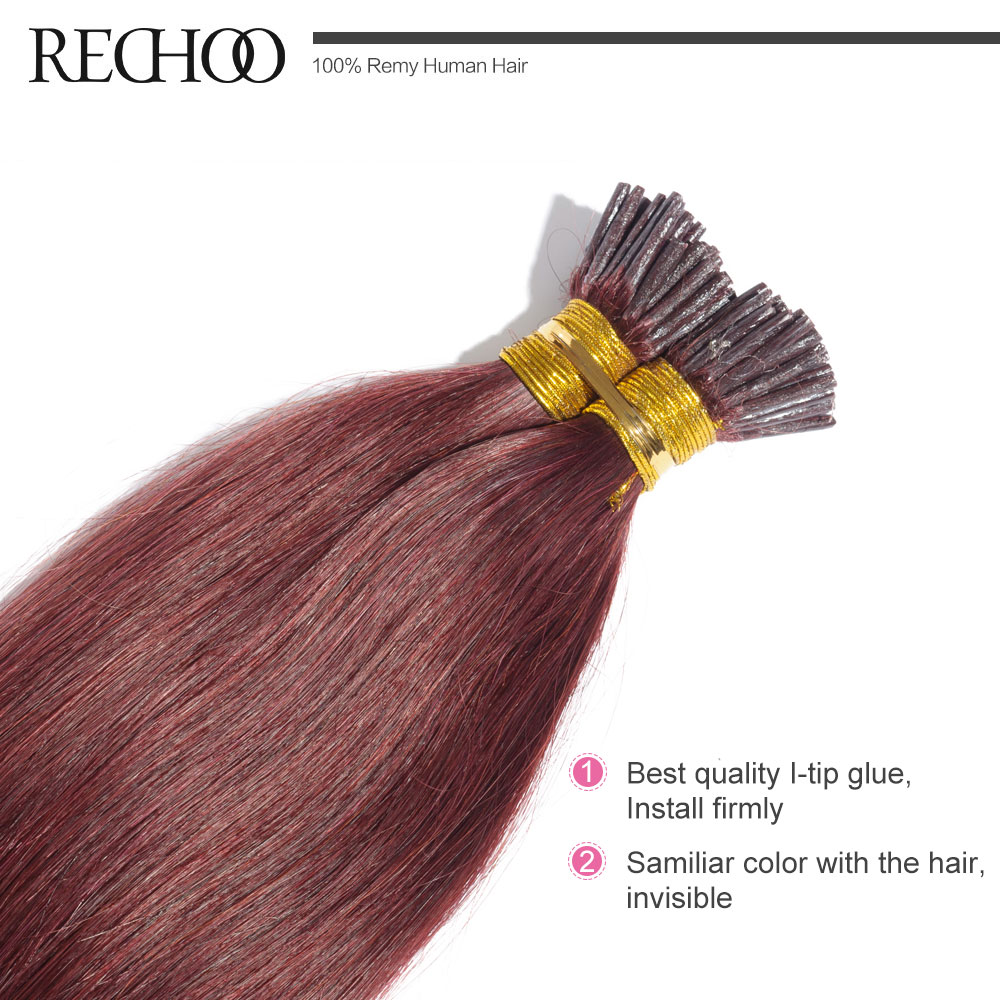 Rechoo top quality i tip non remy hair extensions straight 99j rechoo top quality i tip non remy hair extensions straight 99j brazilian human hair pre bonded hair extensions 1gpcs i tip in i tip from hair extensions pmusecretfo Image collections