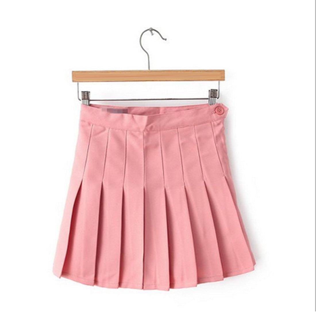 Ladies Sexy White Skirt Women Summer Skirts  2019 Korean Style Solid Color High Waist Skirt Plus Size Harajuku Women Mini Skirts