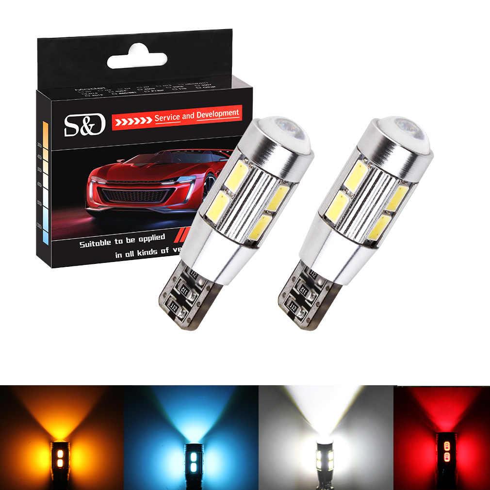 T10 W5W 5630 SMD blanc CANBUS OBC pas d'erreur lampe à LED 501 dash LED ampoules de voiture feux intérieurs voiture Source de lumière parking 12 V D020 D45