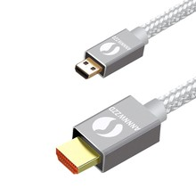 Micro HDMI Cable to 1.4V 3D Male-Male 1m 2m High Premium Adapter for Tablet HDTV Camera