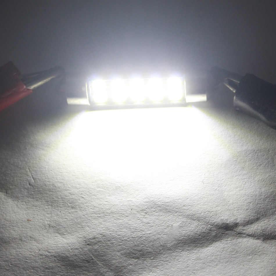 Dxz 1Pcs Festoon 31 Mm 36 Mm 39 Mm 42 Mm C5W C10W 3030 SMD CANBUS Kesalahan Gratis Mobil lampu LED Auto Lampu Interior Doom Lampu Putih 12V DC