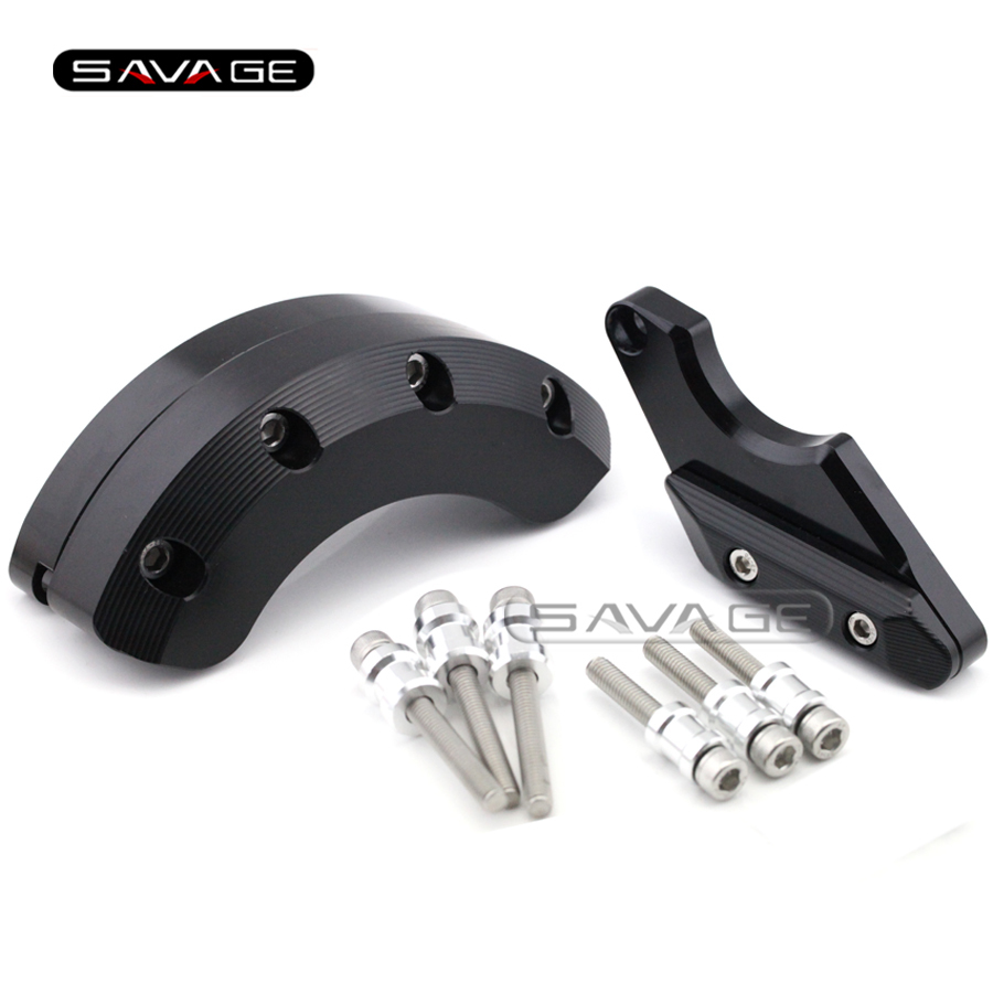 For YAMAHA FZ-6R FZ6R 2009-2015, FZ6N FZ6S 2004-2009 Motorcycle Engine Case Guard Cover Frame Slider Crash Protector Black laser logo fz6 for yamaha fz6 fazer 2006 2010 2007 2008 2009 cnc motorcycle frame crash slider protector drop resistance