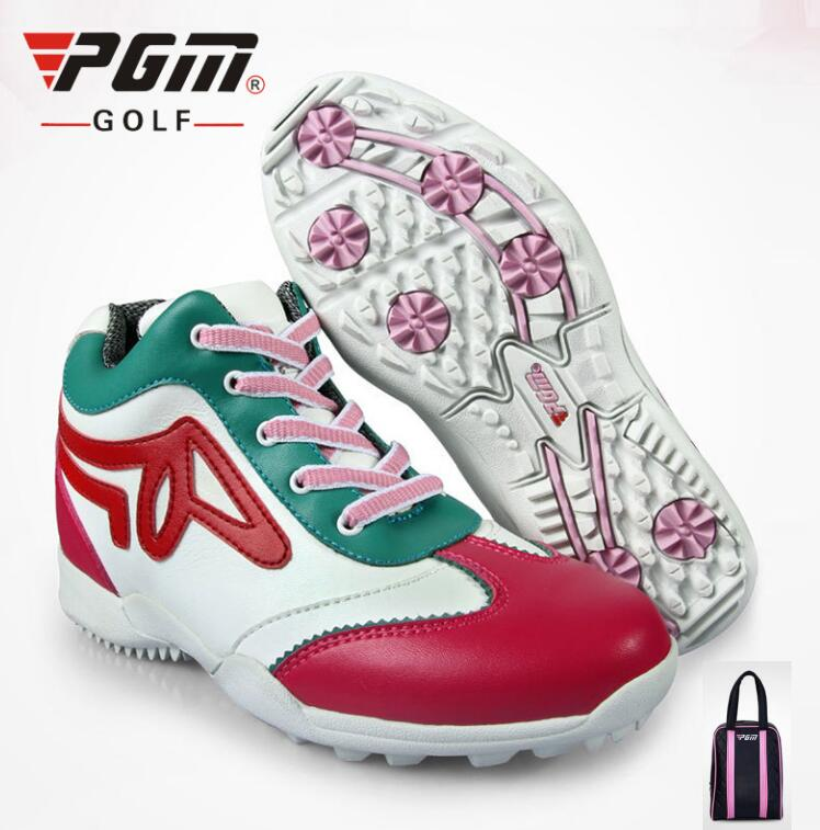 PGM  Women 5.5cm Wedge Heel Sports Shoes soft Waterproof Sneakers Anti-Skid Breathable Golf Shoes With shoes bagsPGM  Women 5.5cm Wedge Heel Sports Shoes soft Waterproof Sneakers Anti-Skid Breathable Golf Shoes With shoes bags