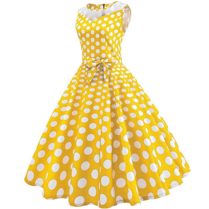 Retro letné párty šaty 1950 s bodkami Swing style (8 variánt) 23