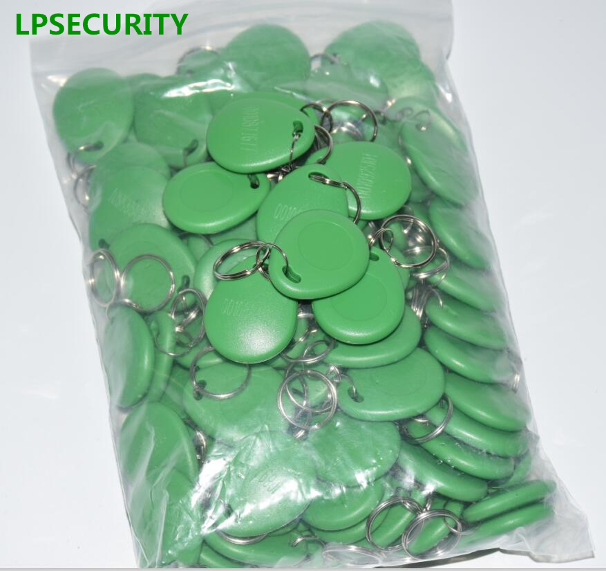 LPSECURITY 100pcs 125KHZ Proximity Token Tag Chip cards Access grass green color for door lock access intercom(not copiable)