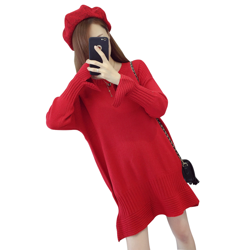 Knitted Maternity Dresses Clothes Fashion Pregnancy Vestidos for Pregnant Women Winter Sweater Maternity Clothing Mummy Clothes fashion cotton padded maternity shirts autumn winter fashion thick knitted long sleeve pregnancy tops loose maternity clothes