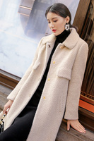 Woolen coat, gold mink, winter thickening wool, autumn winter imitation mink fleece jacket, female middle length 2019 new style