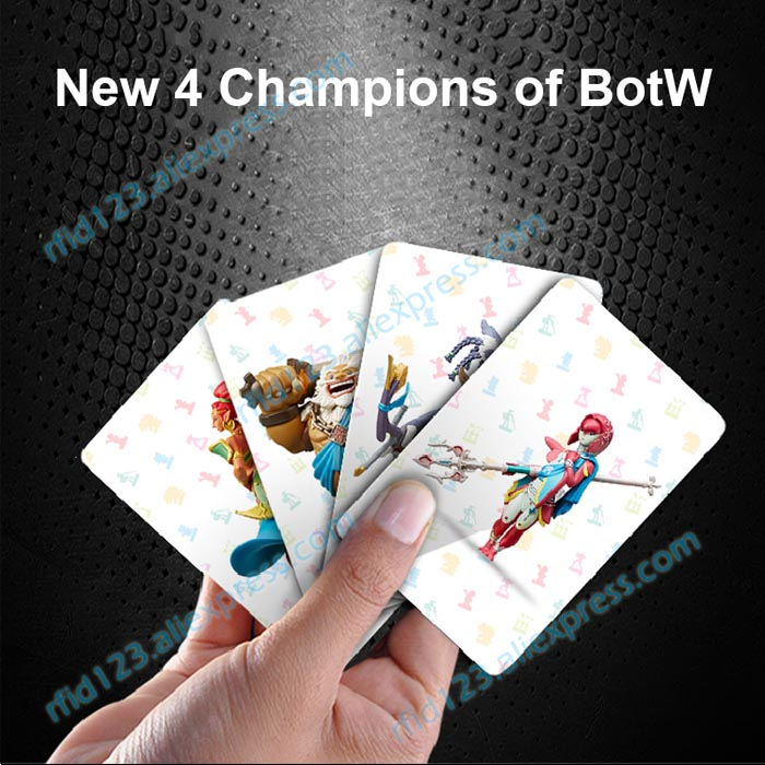 New 4 Cards for Zelda Legend NTAG215 Printing Card NFC Card brooklyn bridge pop up card 3d new york souvenir cards