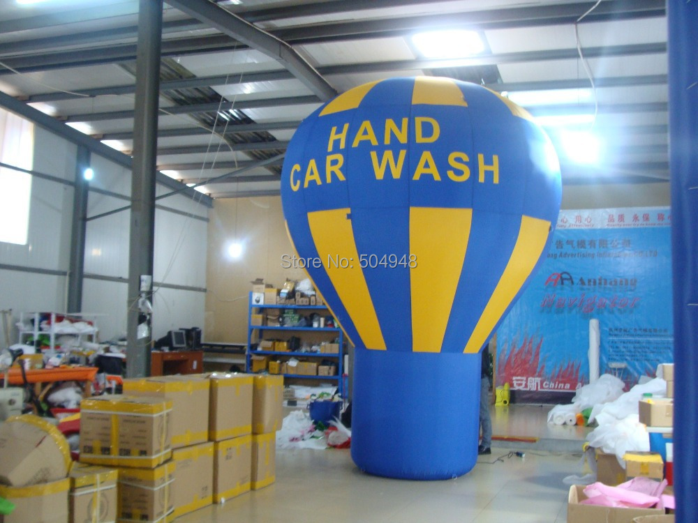 Advertising Inflatable Ground Balloon/Inflatable Car Wash Balloon ao058d 2m advertising ad round helium balloon ball pvc helium balioon inflatable sphere sky balloon for sale