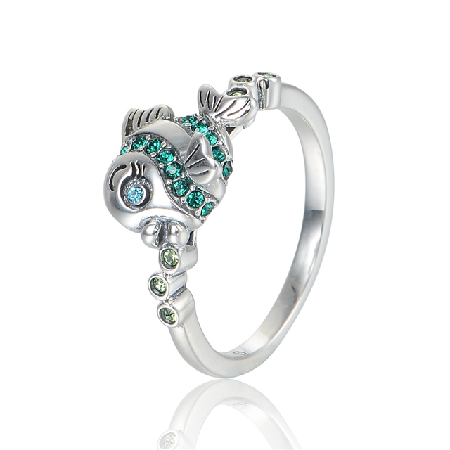 100% 925 Silver Rings Animal Fish Design Wedding Rings for Women Sterling-Silver-Jewelry  Rings Fashion Jewelry