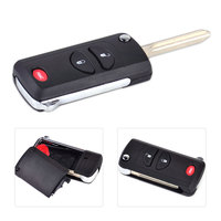 2 1 Button Folding Flip Remote Key Keyless Shell Case FOB For Chrysler Town Country Dodge