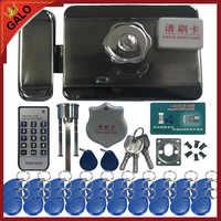 Elektrische lock & tor schloss Access Control system Elektronische integrierte RFID Tür Rim lock mit ID reader 125khz