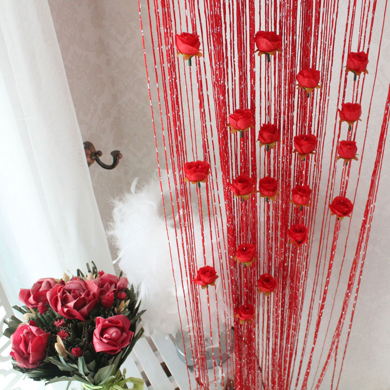 Amazing Aliexpress.com : Buy Free Shipping Rose Curtain 100*200cm Romantic Rose  Flower String/Rose Flower T Design Fringe Curtain Decoration Fabric Curtain  From ...