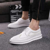 new fashion mens breathable cow leather bullock shoes wedding banquet dresses carving brogue shoe flats platform sneakers zapato