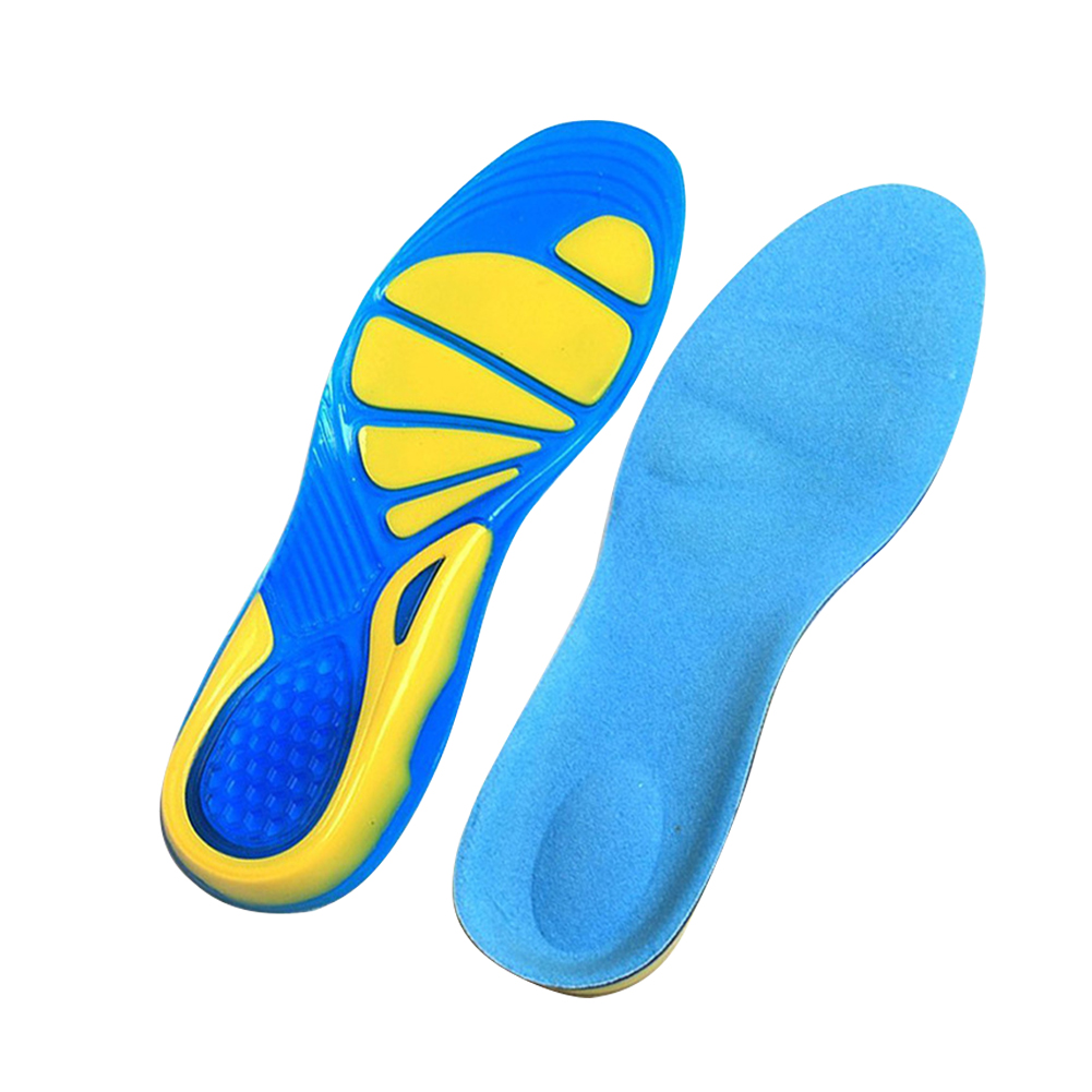 Foot Care Walking Unisex Shoe Pad Orthopedic Insole Shock Absorption TPE Sport
