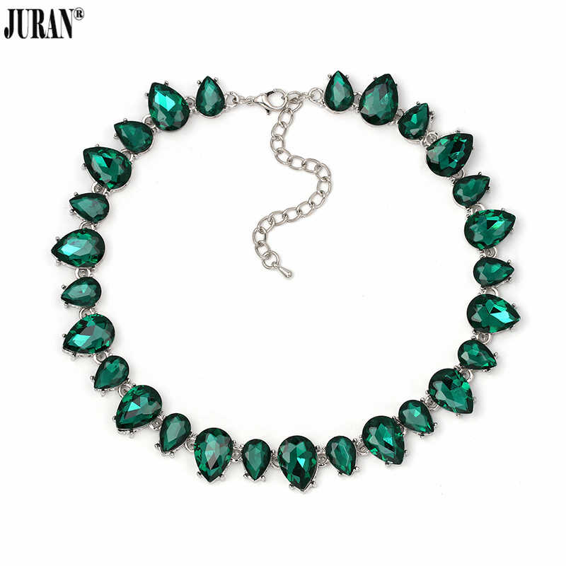 4 Colors Luxury Crystal Collar Choker Necklace Classic Elegant Glass Torques Necklace JURAN Fashion Jewelry
