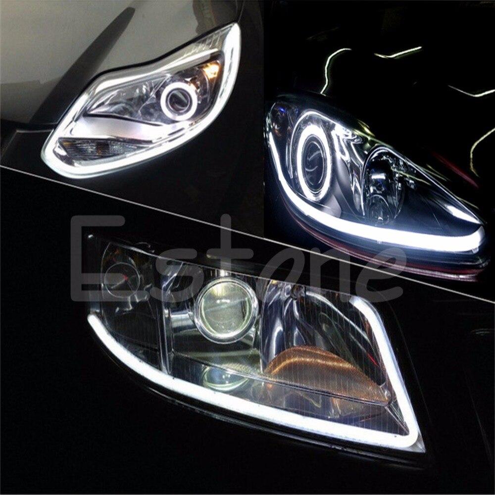 2x 30cm Flexible Car Soft Tube Guide Led Strip Lamp Drl