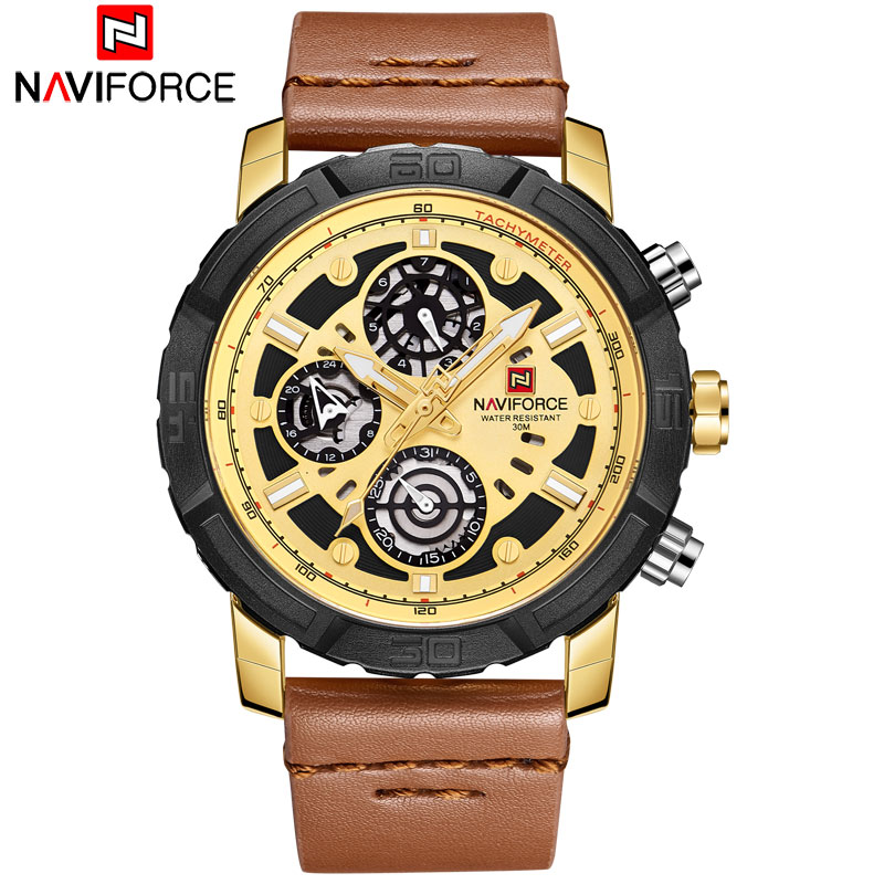 NAVIFORCE 2018 New Men Watches China Brand Luxury Sports Quartz Watch Rectangle Dials Auto Date Leather Band 30M Waterproof skmei 2017 new popular brand men watches fashion analog quartz watch 50m waterproof auto date black dials quality leather starp