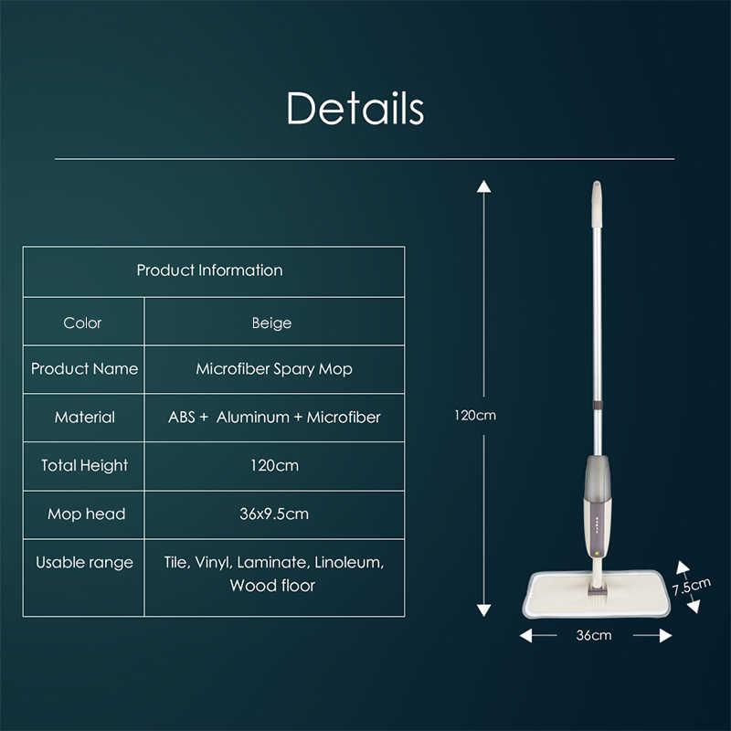 Profissional Spray de Wet & Dry Mop Mop 360 Graus de Rotação Com Substituível Almofadas de Microfibra Mop Para Limpeza de Piso de Madeira E telha