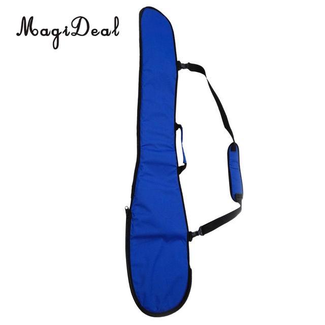Deluxe Padded Split Kayak Paddle Bag With Carry Handle Shoulder Strap Black Blue For