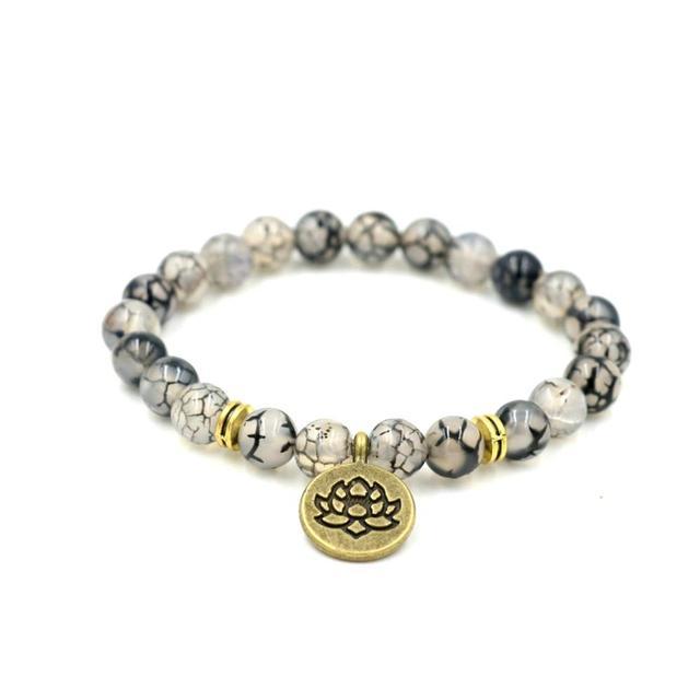Meditating Buddha Lotus Bracelets Om