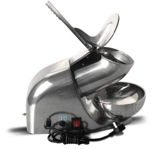 Mesin Serut Es Snow Cone Crusher Komersial Es Serut Listrik Daya Tinggi Tekanan Tangan Mesin Terus Menerus Pasir Tekanan