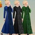 2016 Аппликации Кружева Новые Jilbabs Abayas Кафтан Арабские Одежды Одеяние Турция Ближний Восток Мусульманских Женщин Платье Моды Большой Размер