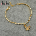 New Hot Sale Butterfly Bracelet 2015 Women Gold Plated Austrian Crystal Bangles For Women Wedding/Gift/Anniversary