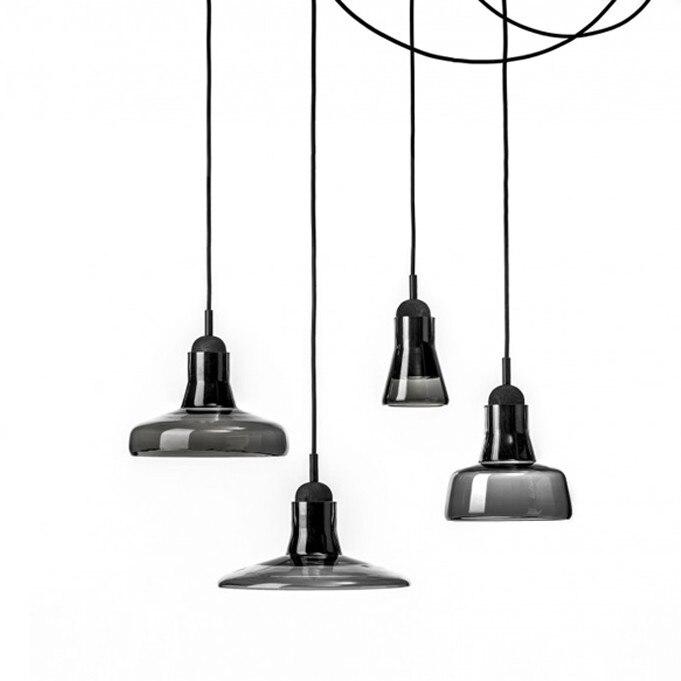 aliexpress koop shadow medium hanglampen grijs rook kegel