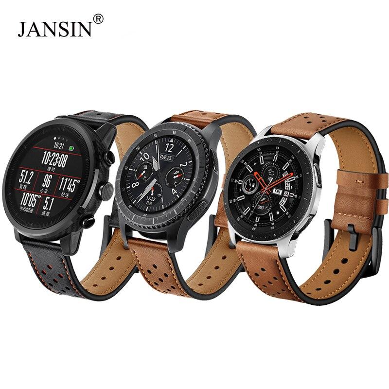 22mm Leder Uhr band für Samsung galaxy watch 46mm/Getriebe S3 Frontier/s3 Klassische/Xiaomi Huami amazfit Tempo Armband