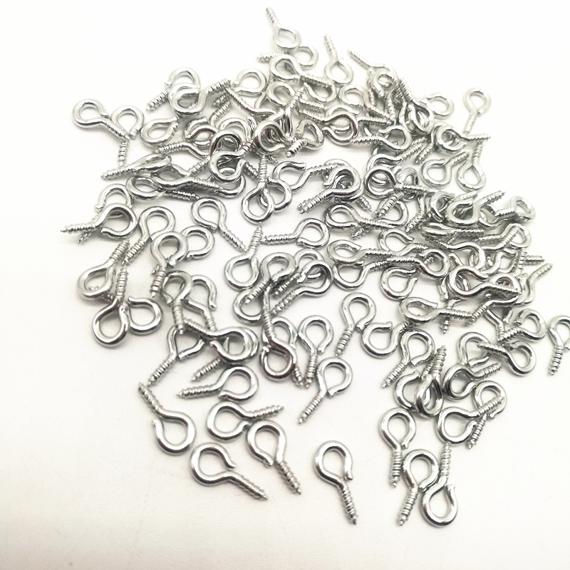 Hooks Pendant Clasps Eyelets Jewelry-Making-Accessories Screw Eye-Pins Metal Jewelry