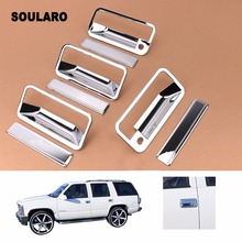 Auto Accessories Chrome 4d Door Handle Cover Trims For 1988 1998 1992 1999 Chevy