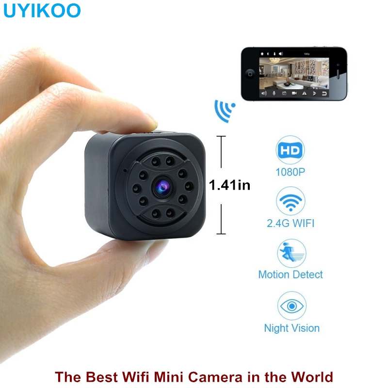 2018 New Wifi Mini Camera Full HD 1080p DV DVR Wireless 2.4G Wifi IP Micro Cam Night Vision and Motion Sensor Wearable Camcorder