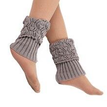Droppshiping 1 пара Женский вязаный манжет для ботинок трикотажные топперы зимние носки под сапоги гетры BFJ55