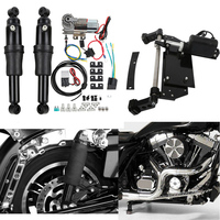 Motorcycle Rear Air Ride Suspension Electric Center Stand For Harley Road King Electra Glide Road Street Glide 2009 2016 13 15