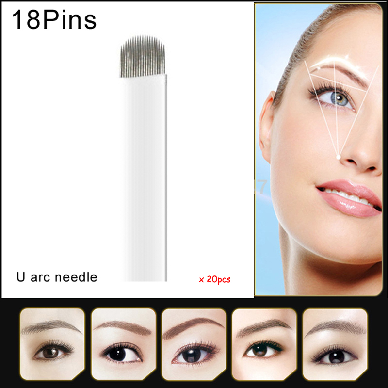Tattoos & Body Art Health & Beauty Crystalum Microblading Eyebrow Blade 15 Pins U Shape Needles Tattoo Tattooing Professional Design