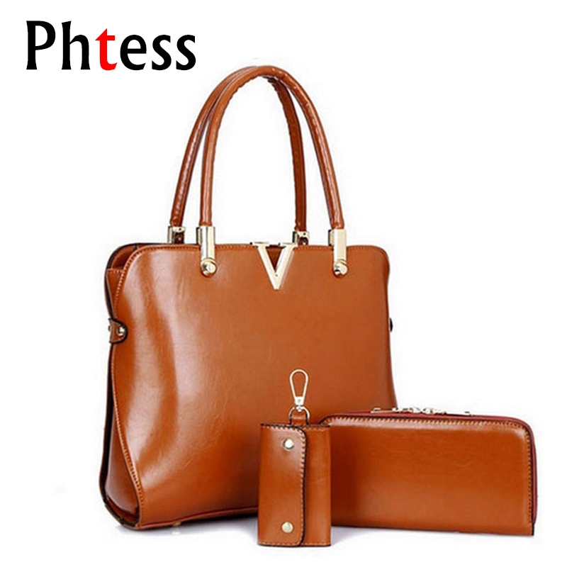 3 Pcs/Set Leather handbag Composite Bag Bolsas Femininas Famous Brand High Quality Shoulder Bag Sac a Main Luxe Vintage Tote Bag joyir fashion genuine leather women handbag luxury famous brands shoulder bag tote bag ladies bolsas femininas sac a main 2017