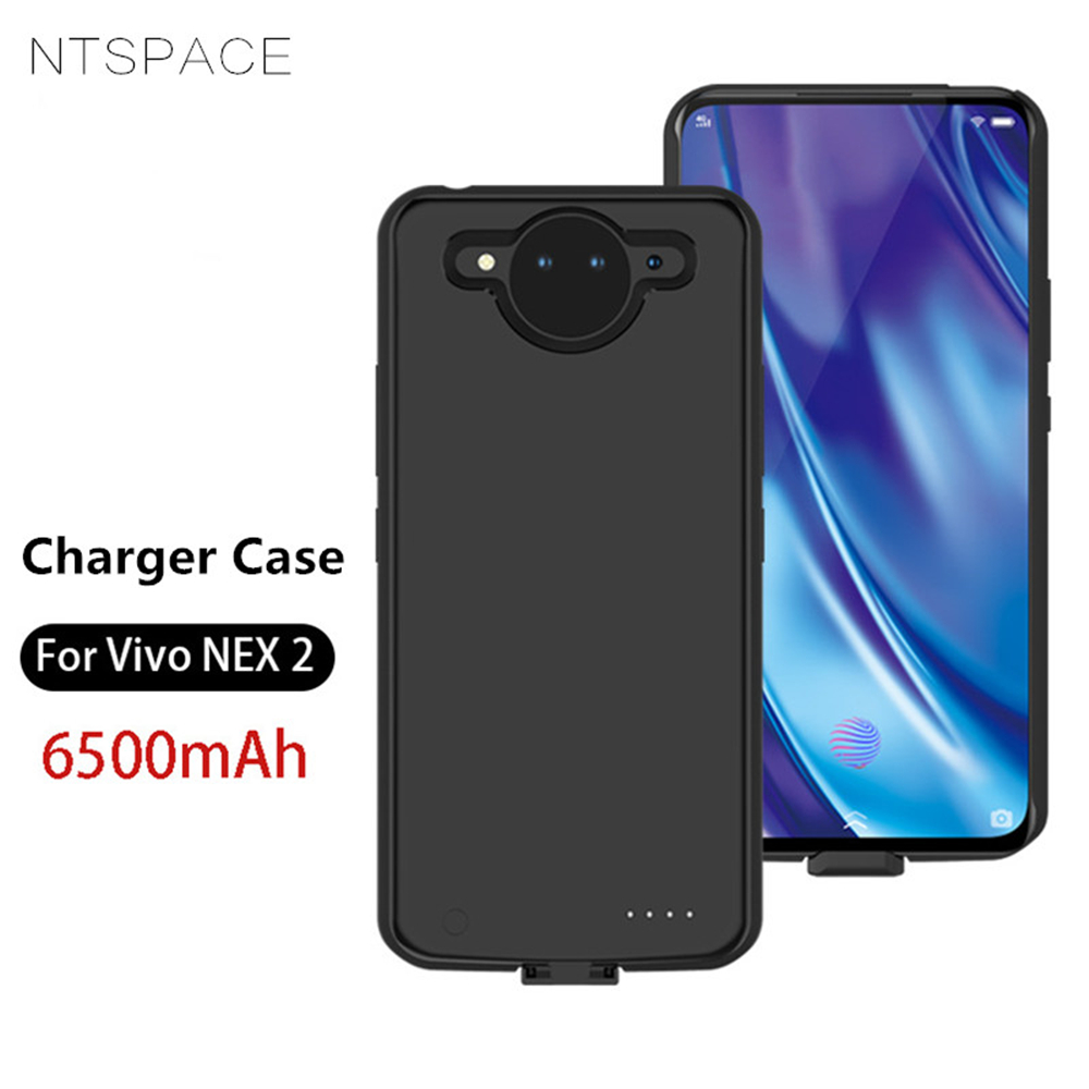 NTSPACE Battery Charger Cases For Vivo NEX 2 Power Bank Case 6500mAh Ultra Slim Backup Charger Case Portable Charging Case