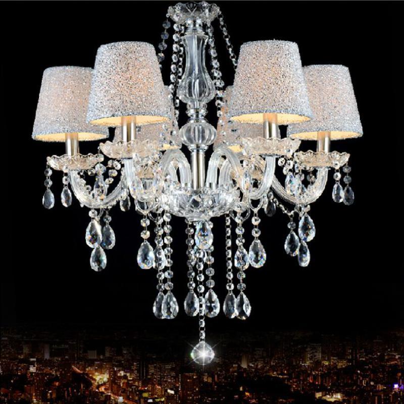 mini Chidren room chandelier with lampshade E14 led bedroom glass chandeliers teens kids room indoor hanging lamp fixtures
