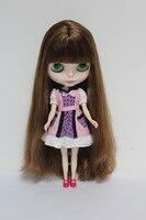 Free Shipping big discount RBL-26DIY Nude Blyth doll birthday gift for girl 4 colour big eyes dolls with beautiful Hair cute toy