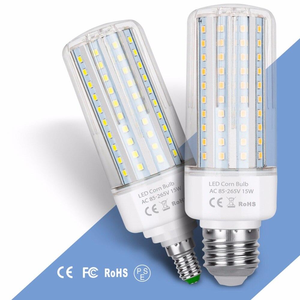 E27 Led 220V Corn Lamp E14 Led Bulb 2835 85-265V 45 75 120 138leds Bombilla 5W 10W 15W 20W Lampada No Flicker Led Light for Home