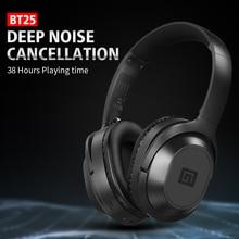Langsdom BT25 Bluetooth Noise Cancelling Headphones Deep Bass ANC Wireless Headphones Blue