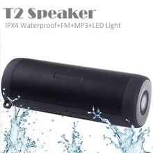 Crazycube T2 IPX4 водонепроницаемый портативный беспроводной bluetooth-динамик светодиодный фонарик MP3 FM PK флип заряд 2 плюс 2 CHR2 +