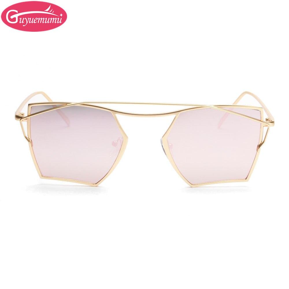 2017 New Personality Brand Mens Sun Glasses Irregular Gold Frame ...